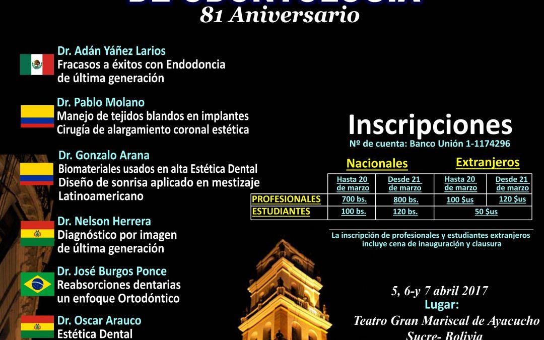 1er CONGRESO INTERNACIONAL DE ODONTOLOGIA
