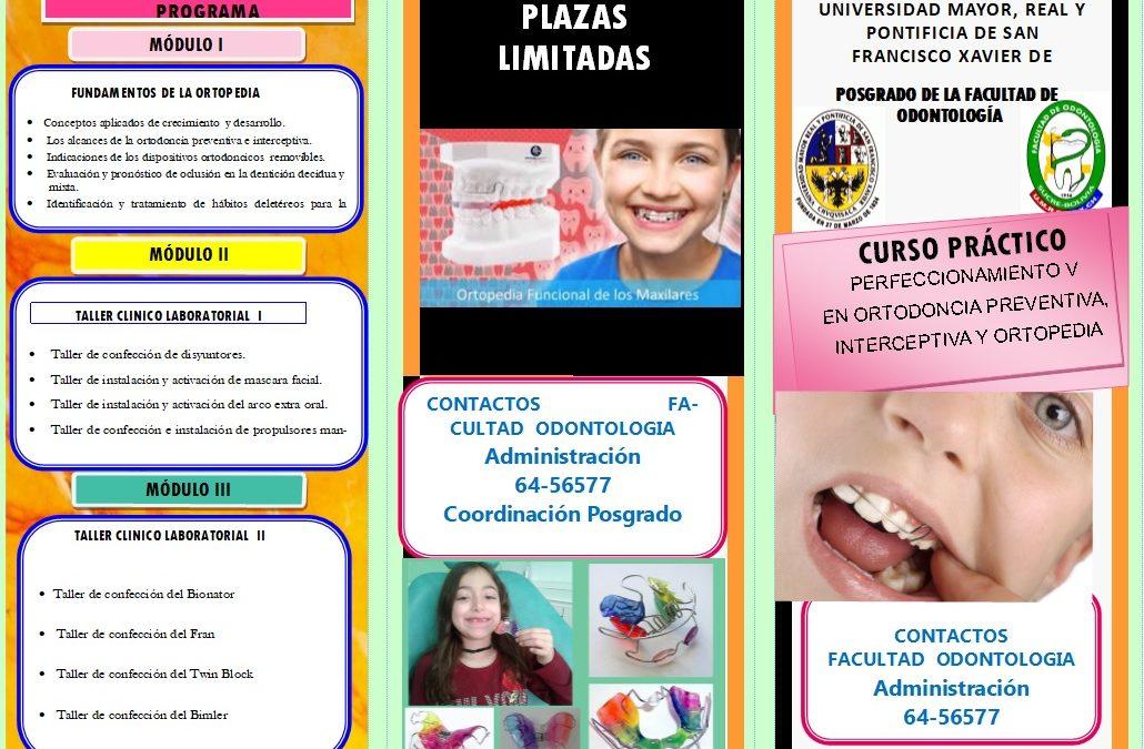 CURSO PRÁCTICO: «Perfeccionamiento V en Ortodoncia Preventiva Interceptiva y Ortopedia Dentofacial»